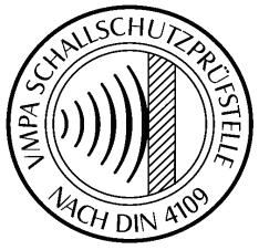 Schallschutzprüfstelle nach DIN 4109 VMPA Brandenburg Potsdam
