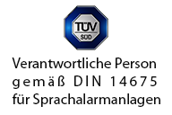 Peter Rahe Verantwortliche Person für Sprachalarmanlagen nach DIN 14675
